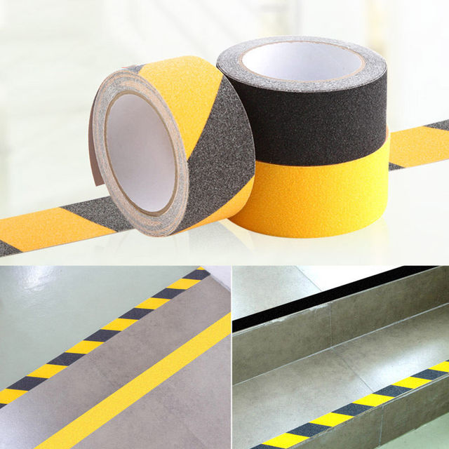 50mm X 5m PVC Anti Slip Tape Stickers For Stairs Decking Strips Shower  Strips Pad Floor