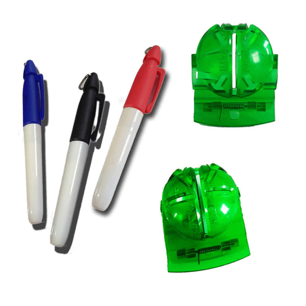 Golf Line Marker Line Tool with Free 3 Pens Green Plastic Template Liner Drawing Tools Putt Alignment for Driving Range