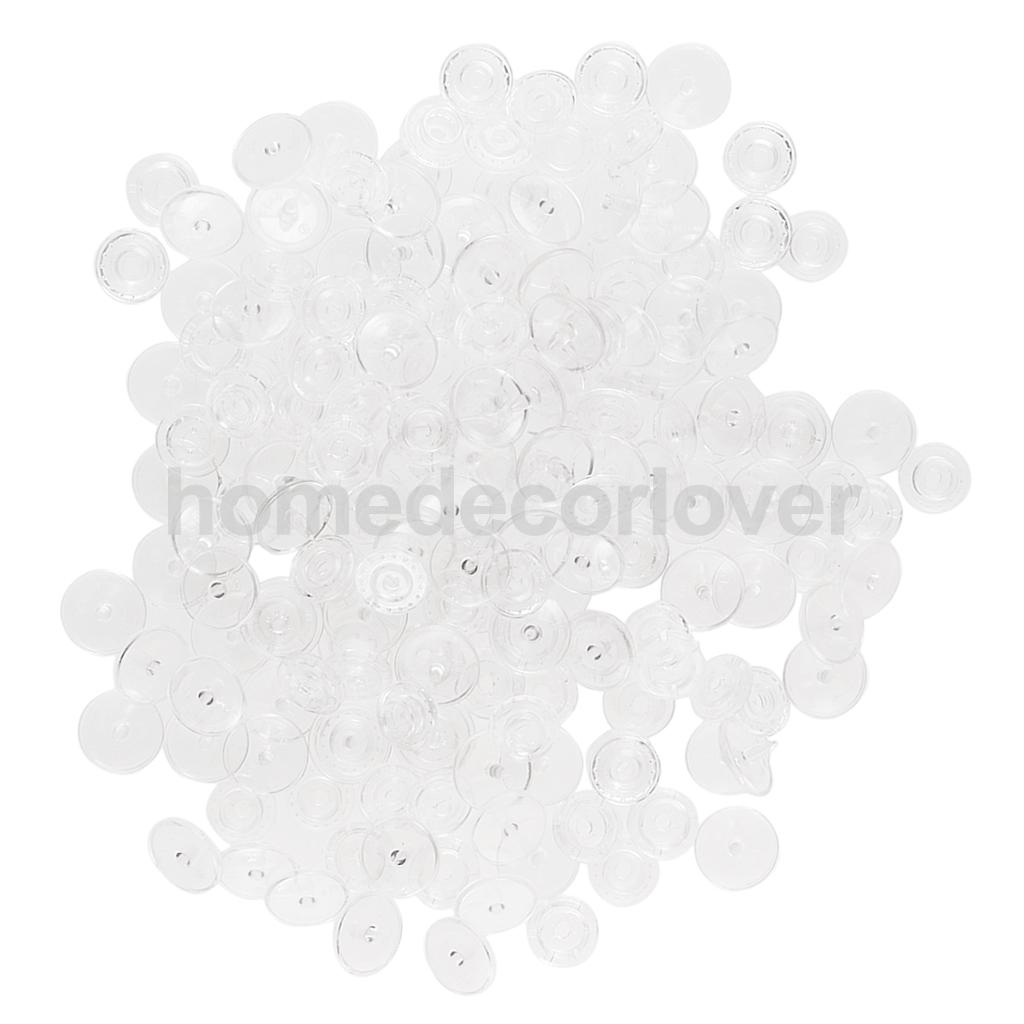 50Sets T8 White PLASTIC RESIN SNAPS BUTTON FASTENERS PRESS STUD POPPERS