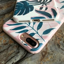 Retro Relief Tree Leaves Silicone Case for iPhone