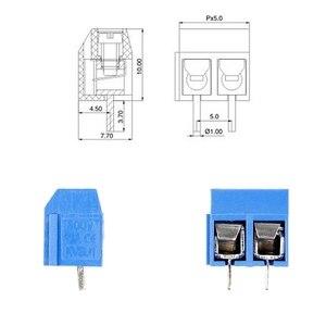 100Pcs/Pack 2 Pin Schraube PCB Terminal Block Anschluss 5mm Pitch W315
