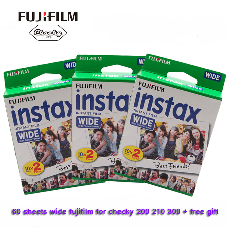 Original Fujifilm Instax Instant Wide Film 60 White Sheets For Polaroid mini camera W300 200 210 100 500AF fujifilm instax 300 black