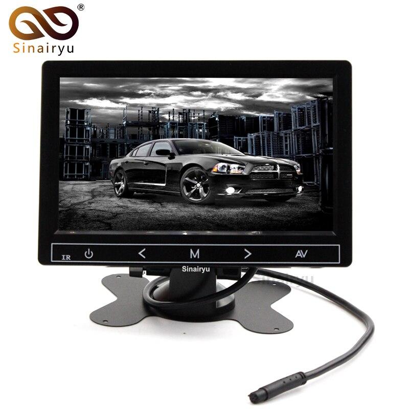 HD 800*480 9 Car Parking Monitor TFT Color Headrest Video Monitor With 2 Video Input Parking Camera Monitor DC 12~24V