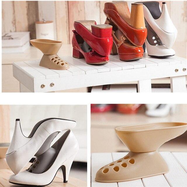 Creative Shoe Rack Shoes Shelf Household Portable Closet Shoes Storage  Supplies 15*5*10cm