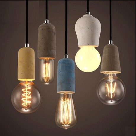 Loft Style Creative Cement Droplight Edison Industrial Vintage Pendant Light Fixtures For Dining Room Hanging Lamp Lighting loft vintage edison glass light ceiling lamp cafe dining bar club aisle t300