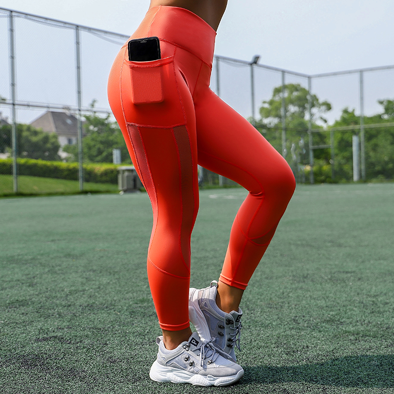 Women Mesh Pocket Fitness Leggings High Waist Legging Femme Mesh Patchwork Workout Leggings Feminina Jeggings 24