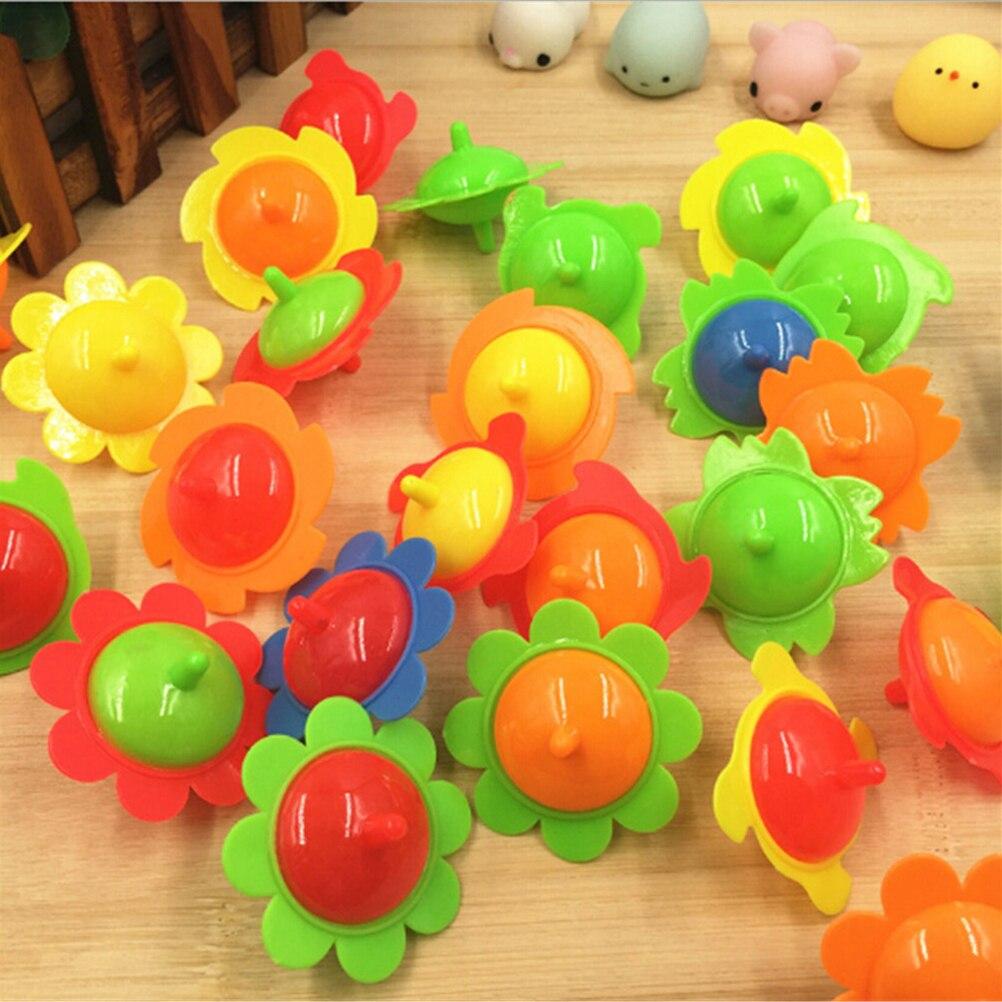 5 Pcs Pegasus Plastic Mini Top Spinning Kleuterschool Enkele Fidget Spinner Hand Spiner Gyro Speelgoed Spiner Tol