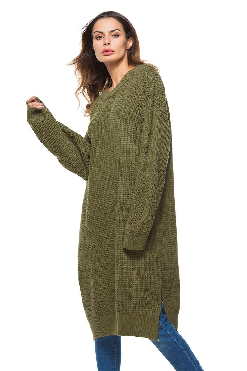 Fall Winter Vintage Mustard Side Slit Crochet Sweater Dress for Women Cute Ladies Retro Cosy Loose Split Pullover One Size 13