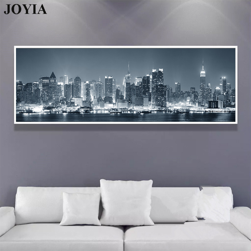 New York Nyc Skyline City Single Canvas Wall Art Picture: Home Decor City Night Wall Art Canvas New York Skyscrapers