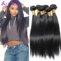 6A 3PCS Brazilian Straight Hair Natural Black Brazilian Virgin Hair Straight Human hair Ms Here Brazilian Hair Weave Bundles