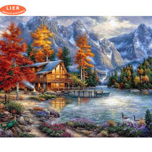 LIER diamond painting full square landscape,diamond embroidery mosaic rhinestones,cross stitch home scenery