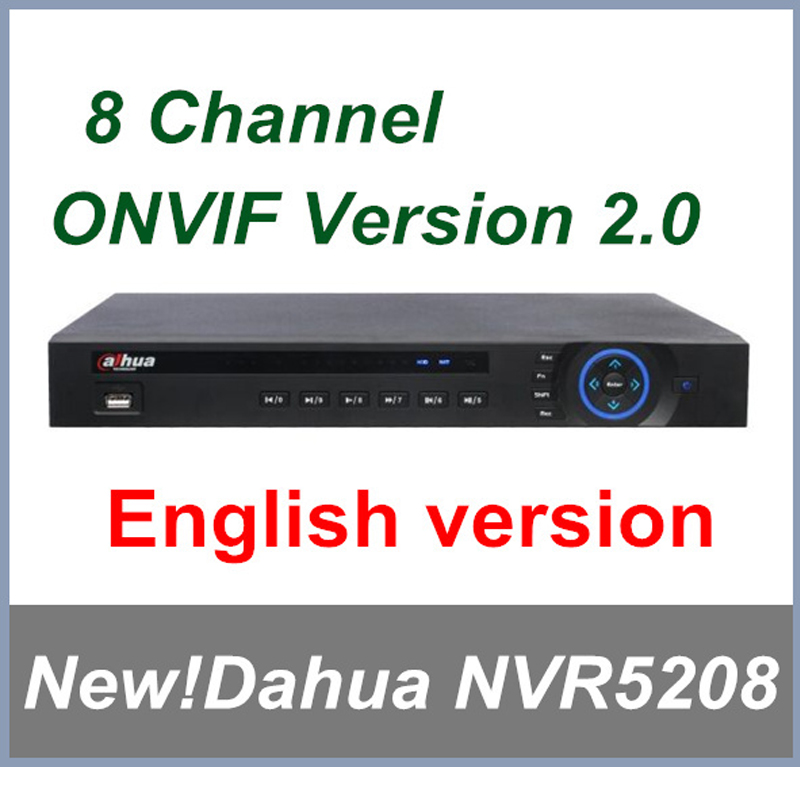 2016 New Dahua 8 channel NVR5208 H.264 1080P Network Video Recorder Support English Firmware and Onvif