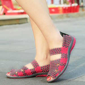 Image 5 - FEVRAL 2021 брендовые дышащие летние туфли женские лоферы без шнуровки повседневная обувь сверхлегкие туфли на плоской подошве Новая женская обувь размер 35 40