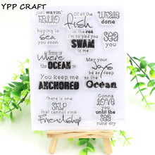 YPP CRAFT Ocean Transparent Clear Silicone Stamp/Seal for DIY scrapbooking/photo album Decorative clear stamp sheets(China)
