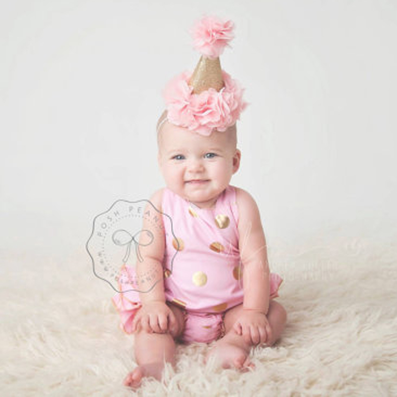 New First Birthday Crown Headband for Girl Hair Accessories Handmade  Glitter Crown Flower Headband 1PC-in Hair Accessories from Mother   Kids on  ... efec8b2843e