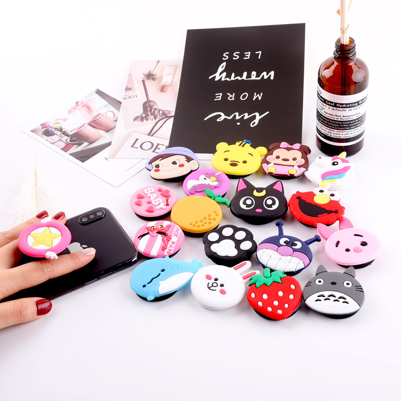 Universal Finger Ring Stand Bracket Airbag Expanding Stand Stretch Grip Smartphone Holder Finger Cute Cartoon Stand Phone Holder