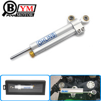 1pcs Universal Chrome Ohlins Steering Damper Motorcycle CNC Stabilizer Linear Reversed Safety Control For All Motor