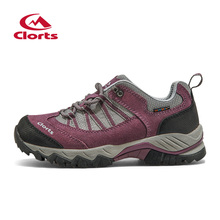 2016 Clorts Woman Hiking Shoes HKL-831C/D Cow Suede Waterproof Woman Shoes Hiking Sneakers for Woman