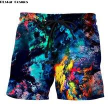 Мужские повседневные шорты модные 3d принт металлическая галактика