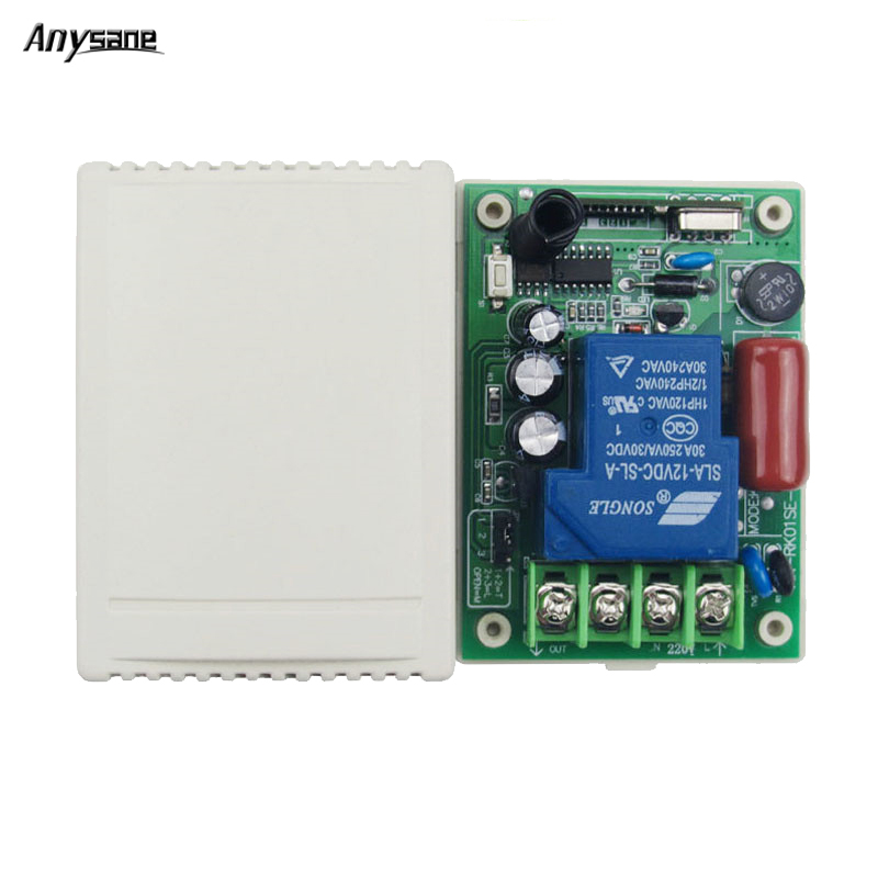 30A Wireless remote control AC 220V 1CH receiver rf 433MHz 315MHz learning code EV1527 smart home relay smart switch receivers