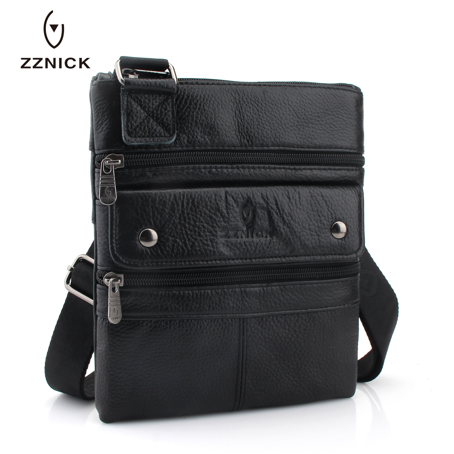 Image 3 - ZZNICK 2020 Genuine Leather Men Messenger Bag Hot Sale Male Small Man Fashion Crossbody Shoulder Bags Mens Travel New HandbagsCrossbody Bags   -