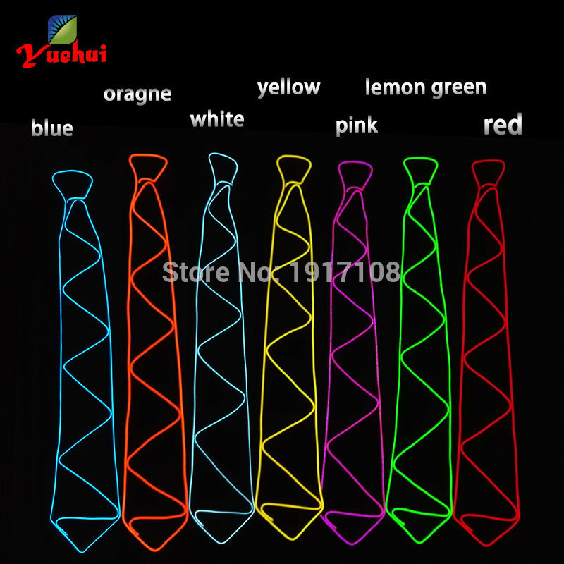 New arrival 10 Color Fashion with DC-3V Flashing Controller Wedding decor Upgrade LED Neck tie For Wedding DJ Party Decoration