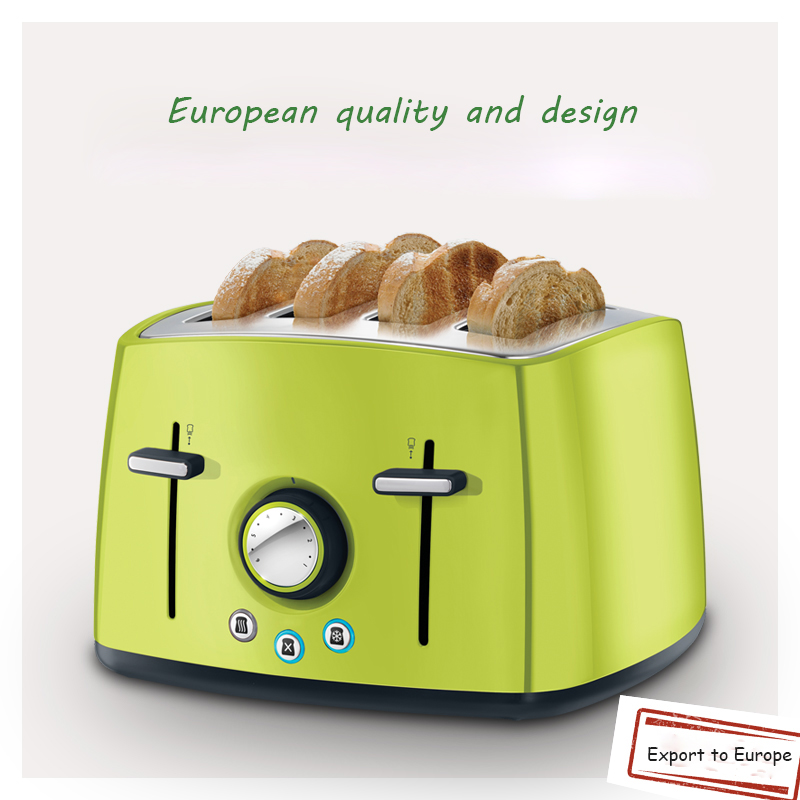 1pc 1600w toaster machine home automatic breakfast toaster multi-function 4 toast stainless steel toast цена и фото