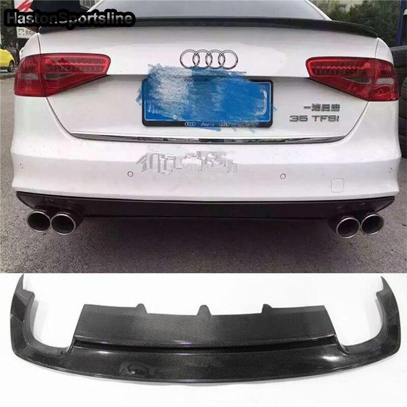 Pour Audi S4 B8.5 avec Sline 4 portes berline en Fiber de carbone Kit carrosserie arrière pare-chocs diffuseur Auto modifié accessoires 2013 ~ 2016