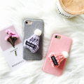 3D Cute Wool Hat Case for iPhone 7 7plus Fundas for iPhone 6 6s 6plus 6splus Case   Candy Color Plush Cloth Hard Back Cover