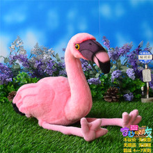 25CM Simulation American Flamingo Stuffed Toy Dolls Caribbean Flamingo Plush Toys Simulation Animal Plush Toys Free Shipping