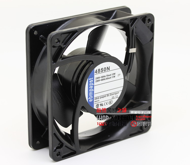 PAPST Original West Germany EBMPAPST 4850N AC 220V 11W 12038 12CM Full metal high temperature fan