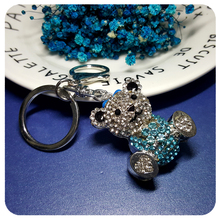 Rhinestone Little Cute Bear Charm jewelry Accessory for Handbag Decoration Ornament Fantastic 3D Key Chain Gift