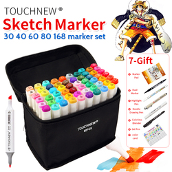 Touchnew 30 40 60 80 colors art marker set alcohol based sketch marker pen for drawing.jpg 250x250