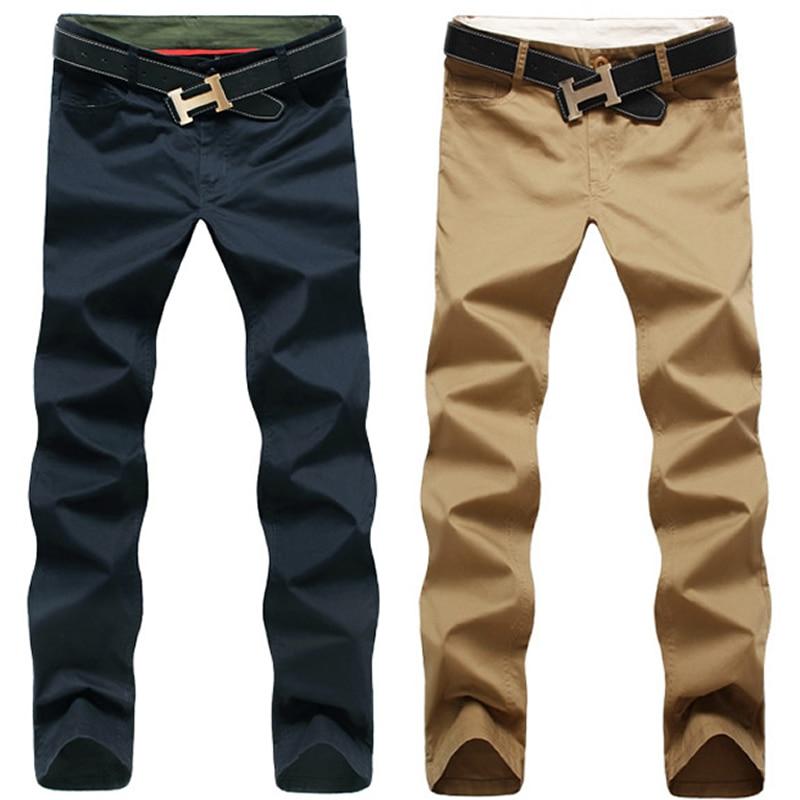 New Spring Fashion Mens Cotton Casual Pants Slim fit Khaki ...