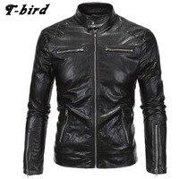 T bird Jacket Men Winter 2017 Coat Male Bomber Jacket Men Punk Style Brand Leather Outwear Mens Cotton Jackets Clothing 5XL