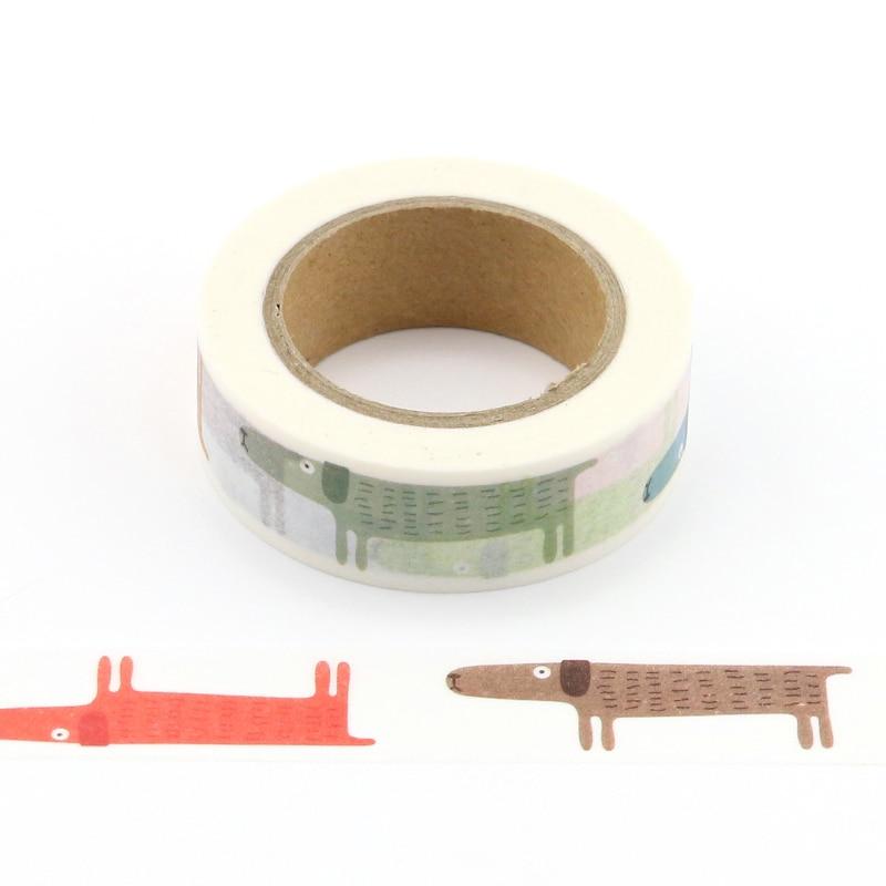 1X Cute animal Japanese Masking Washi Tape Decorative Adhesive Tape Decora Diy Scrapbooking Sticker Label school supply