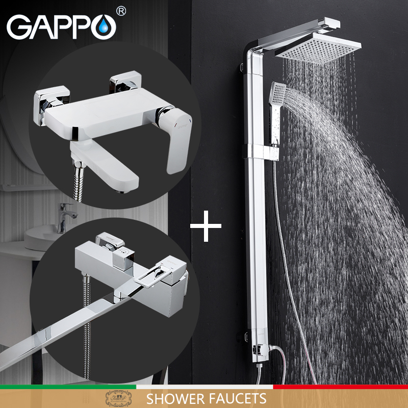 GAPPO robinet de douche salle de bain robinets mitigeur salle de bain mur baignoire robinet cascade douche baignoire mitigeur mural torneira robinet