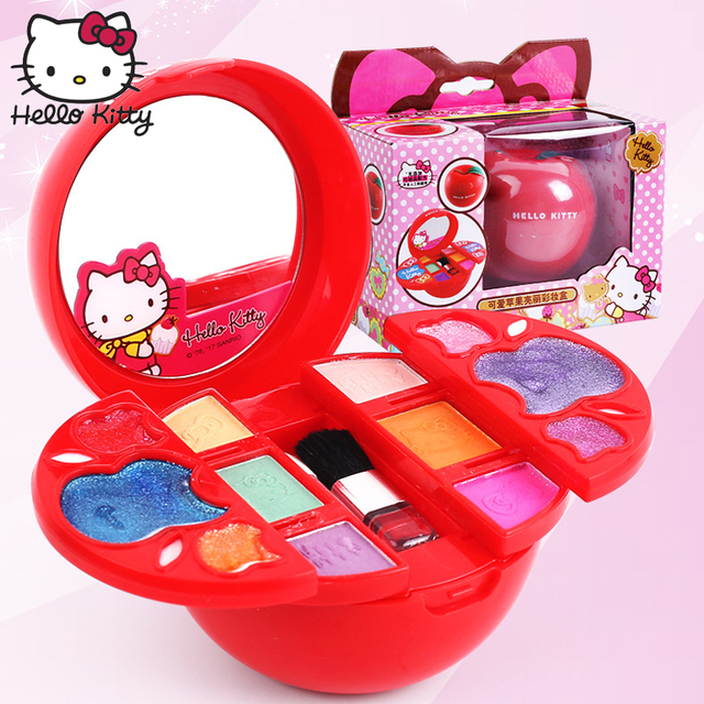 8e00afea5 Hello Kitty Makeup Kits 2019 Kids Pretend Play Beauty Fashion Toys Princess Make  Up Box Non-Toxic Tasteless 5Year+ Birthday Gift