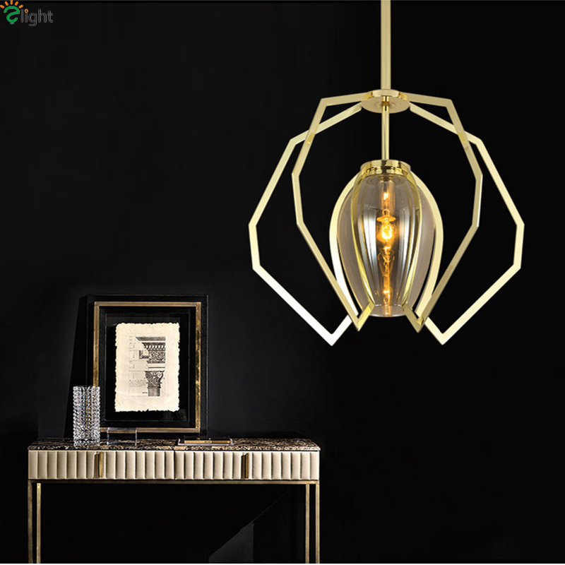 Modern Lustre Copper Led Pendant Lamp Glass Dining Room Led Pendant Lights Bedroom Pendant Light Led Hanging Light Fixtures remote control lamp pendant lights lustre lighting adjustable modern vintage design light fixtures led dining room 8020
