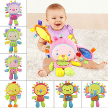 toys for children newborns Infants Kids Animal Soft Plush Baby Hand Bells Educational Doll Toy 0-12 Months educational toys