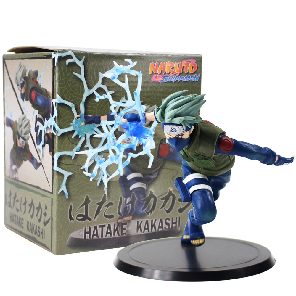 11cm Naruto Shippuden Kakashi Figure Toys Hatake Kakashi Running Figurine PVC Action Figure Collectible Model Dolls