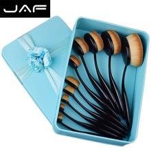 Brand Toothbrush Makeup Brush Set Hyperelastic Plastic Handle Oval High Quality Makeup Brush Tool Gift Set