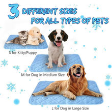 Pet Cooling Mat Non-Toxic Cool Gel Pad Self Dog Cat Pillow Hot Weather Large Bed Pads