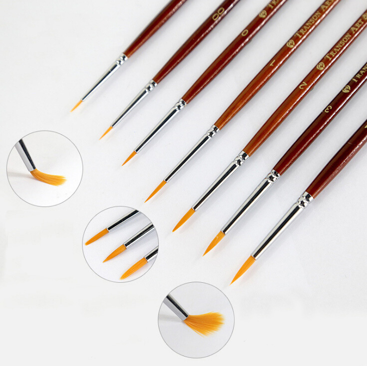 Nylon Drawing Pen Single Watercolor Brush Oil Brush Water Chalk Nylon Drawing Pen Practice
