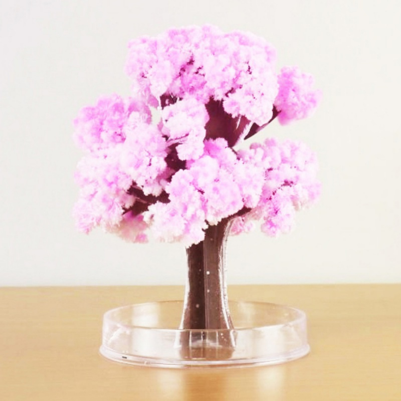 DIY Paper Flower Artificial Magic Sakura Tree Desktop Cherry Blossom Kids Education Toys Fashion
