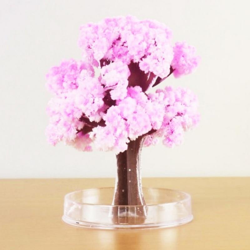 DIY Paper Flower Artificial Magic Sakura Tree Desktop Cherry Blossom Kids Education Toys Fashion