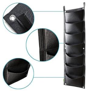 Image 3 - 4と7 ポケット垂直園芸フラワーポットプランター吊り鉢プランター壁ガーデングリーンフィールド装飾