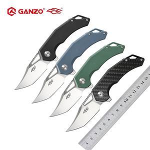 Image 1 - Ganzo couteau fbbird Firebird lame G10, manche en Fiber de carbone, couteau pliant FH61 D2, outil de survie, couteau de poche, outil tactique pour lextérieur