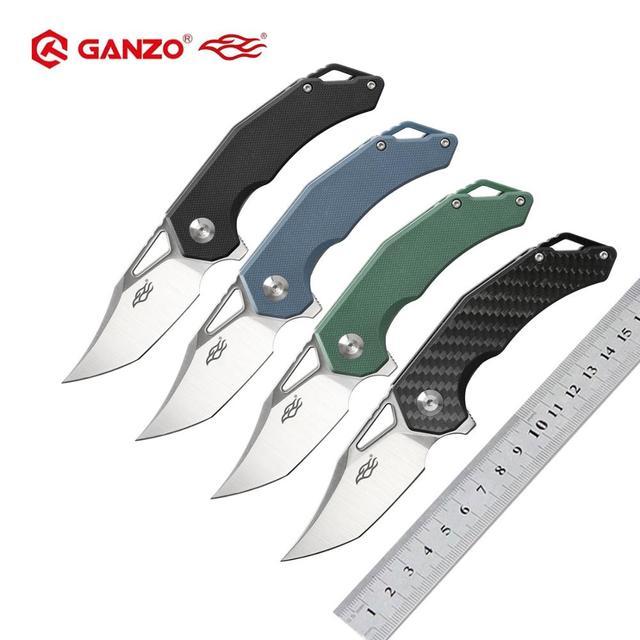 Ganzo couteau fbbird Firebird lame G10, manche en Fiber de carbone, couteau pliant FH61 D2, outil de survie, couteau de poche, outil tactique pour lextérieur