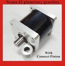 64: 1 Планетарный редуктор NEMA42 для Nema 42 Мотор Шаговый двигатель номинальной нагрузки 260N. м (36111oz-in)